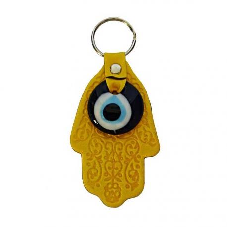 Porte-clés Evil Eye jaune