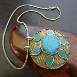 Collier pendentif vintage Pakistan
