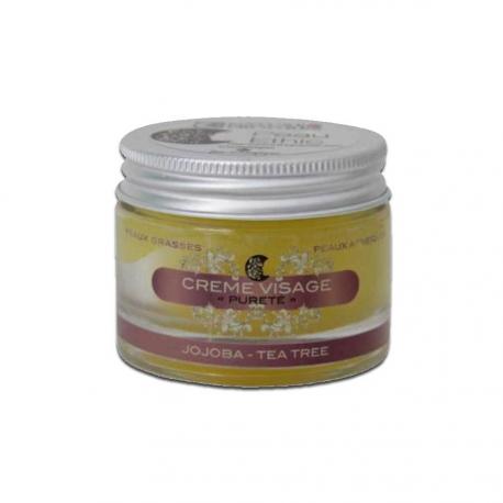 """Crème """"Pureté"""" au Tea Tree Peau grasse - Acné"""