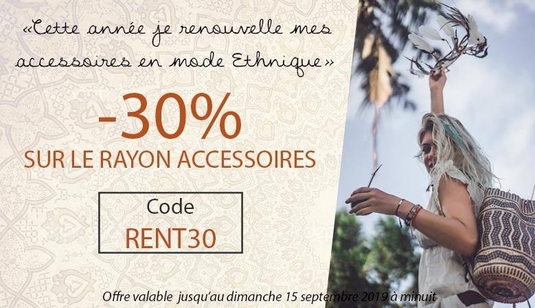-30% sur les accessoires de mode