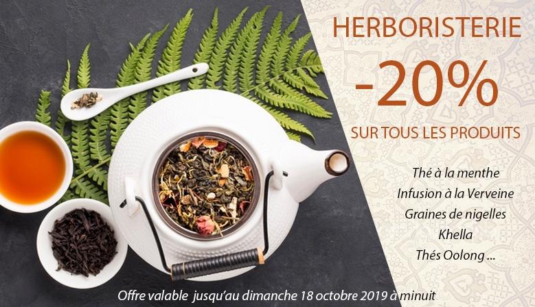 -20% sur les produits Herboristerie