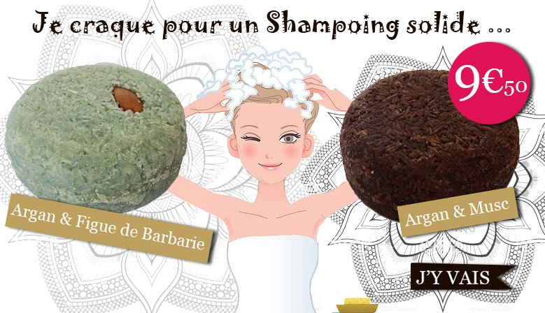 Shampoings solides Argan Figues et  Musk
