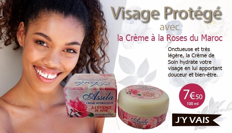 crème visage à la rose du Maroc